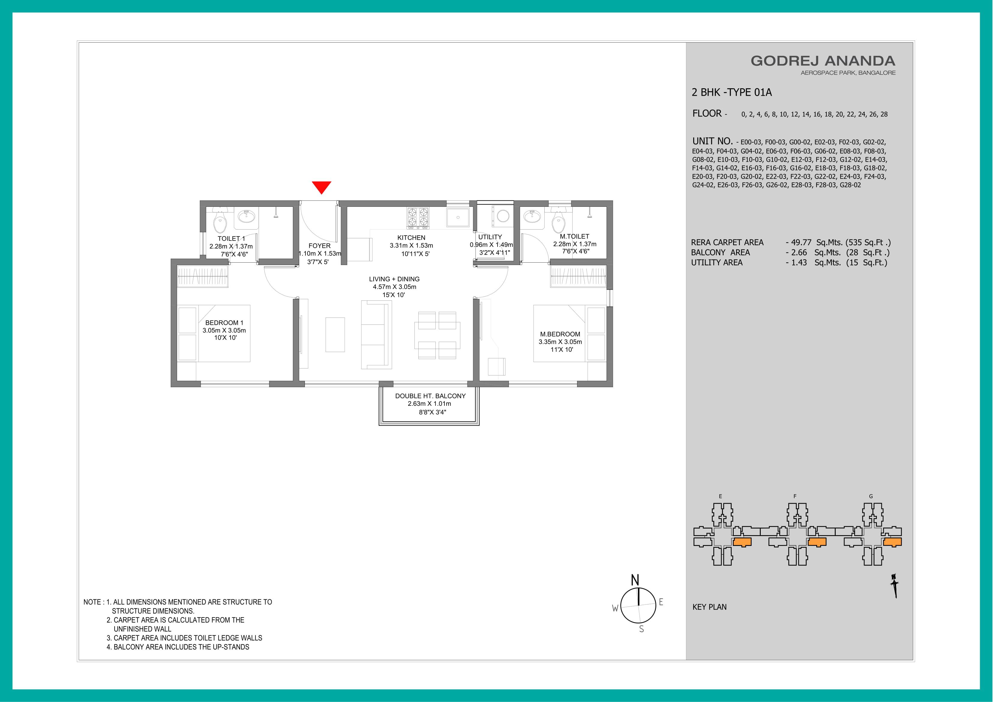Floor Plan Godrej Ananda Bangalore